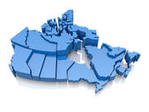 Three-dimensional map of Canada — Stock Photo