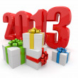 Stock Photo: Happy New year 2013. Gifts.