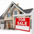 Stock Photo: House for Sale sign