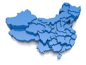 Three-dimensional map of China — Stock Photo
