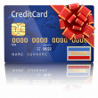 Stock Photo: Gift credit card. 3d