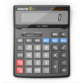 Calculator on white isolated background — 图库照片