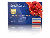 Gift credit card. 3d — Stock Photo