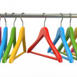 Clothes hangers. 3d — Stock Photo #19663237