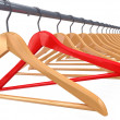 Clothes hangers. 3d — Stock Photo