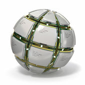 CPU. Sphere from computer's processors .3d — Stock Photo
