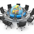 Concept of global business communication. 3d — Stock Photo