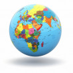 Beyaz arka plan üzerinde siyasi dünya dünya. 3D — Stok fotoğraf #20592399