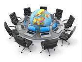 Küresel iş iletişimi kavramı. 3d — Stok fotoğraf