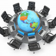 Concept of global business communication. - Stock Photo