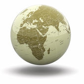 Political world globe. 3d — Stock Photo