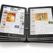 Newspaper or magazine from tablet pc. - Stock Photo