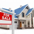 Stock Photo: Home for Sale sign