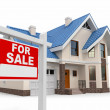 Home for Sale sign — Stock Photo