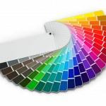 guide de palette de couleur sur fond blanc — Photo