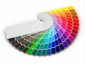 在白色背景上的颜色调色板指南 — 图库照片