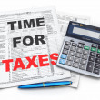 Stock Photo: Time for taxes. Tax Return 1040, calculator and pencil