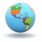 Political world globe on white background. 3d — Stock Photo