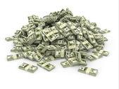 Dólares. pila de paquetes de dinero — Foto de Stock