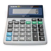 Calculator on white isolated background — Stock Photo