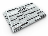 Search job. Newspaper with advertisments. — Stock Photo
