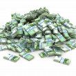 Royalty-Free Stock Photo: Euro. Pile from packs of money.