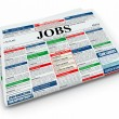 Royalty-Free Stock Photo: Search job. Newspaper with advertisments. 3d