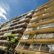 Modern executive apartments with balconies and sky. — Stock Photo