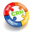 CRM. Customer relationship marketing  concept. — Stock fotografie