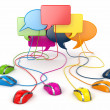 Concept of social network. Forum or chat bubble speech. — Stock Photo #27424453