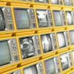 Wall from retro TV — Stock Photo #27752769