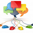 Concept of social network. Forum or chat bubble speech. — Stock Photo