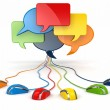 Concept of social network. Forum or chat bubble speech. — Stock Photo #27752801