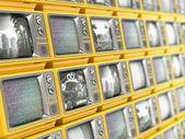 Wall from retro TV — Stock Photo