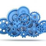 Gears. Cloud computing. — Stock Photo #29966251