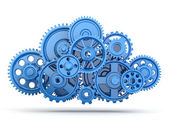 Gears. Cloud computing. — Stock Photo