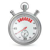 Stopwatch with text success on dial. — Stock Photo