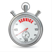 Stopwatch with text service on dial. — Stock Photo