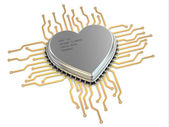 My favorite processor. Cpu as heart. — Stock Photo