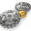 Concept, Main gear in mechanism. — Stock Photo