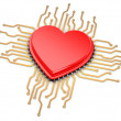 My favorite processor. Cpu as heart. — Stock Photo #31012009