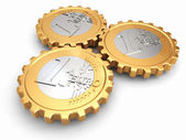 Euro coins as gear. Financial concept. — Stock Photo