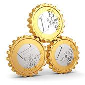 Euro coins as gear. Financial concept. — Stock Photo