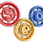 SEO. Search engine optimization. Conceptual image. — Stock Photo