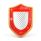 Shield on white isolated background. Security concept. — Stock Photo