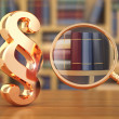 Stockfoto: Law concept. Paragraph, loupe and books.