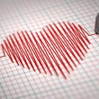 ECG. Electrocardiogram and heart  beat shape. — Stock Photo