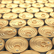 Food tin cans. Groceries background. — Stock Photo #38143873
