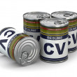 Cv can, Conceptual image of resume. — Stockfoto #39046497