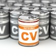 Cv can, Conceptual image of resume. — Stockfoto #39547651